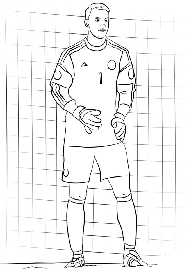 足球运动员简笔画图片 人物-第6张