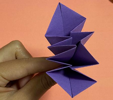 牵牛花折纸步骤图解法 手工折纸-第8张