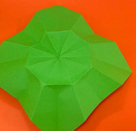 降落伞折纸方法图片大全 手工折纸-第9张
