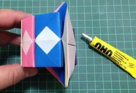 折纸灯笼立体简单做法 手工折纸-第12张