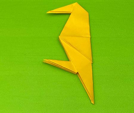 乌鸦手工折纸步骤图解 手工折纸-第12张