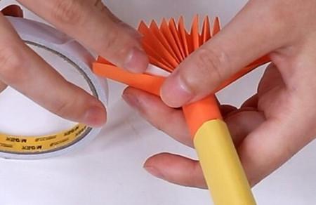 伸缩扇子的折法图解 手工折纸-第17张