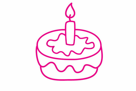 生日蛋糕简笔画图片