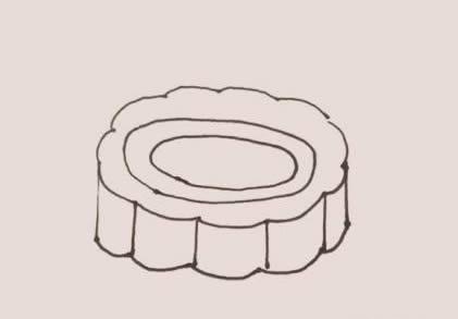 月饼简笔画