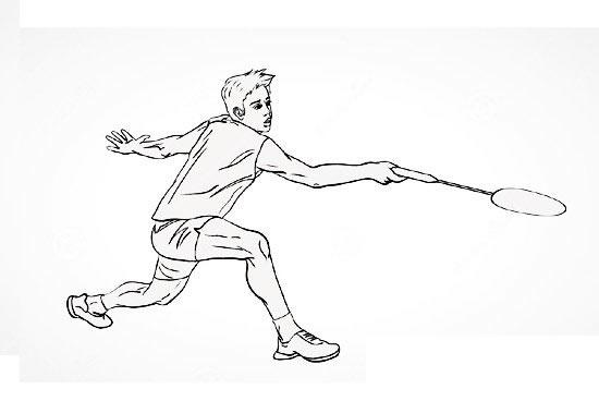 羽毛球运动员简笔画组图 中级简笔画教程-第3张
