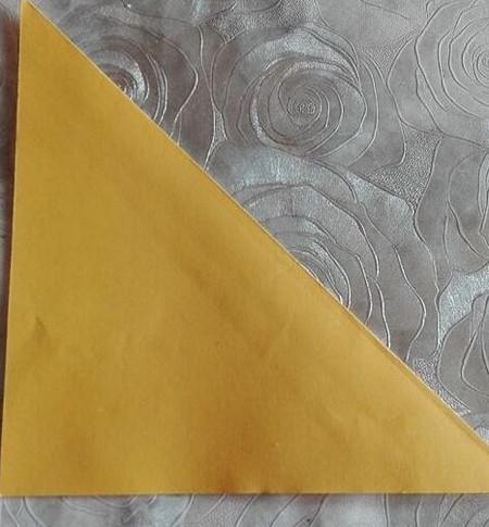 正方形纸盒子的折法步骤 手工折纸-第3张