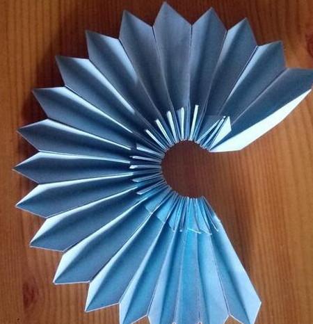 儿童手工折纸菊花步骤图解 手工折纸-第7张