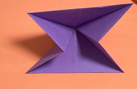 牵牛花折纸步骤图解法 手工折纸-第4张