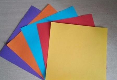 彩色立方体折纸教程 手工折纸-第2张