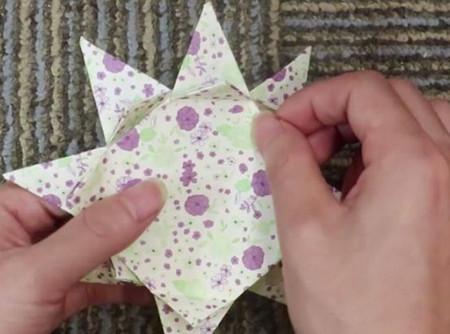 蛋糕手工折纸教程步骤图片 手工折纸-第12张