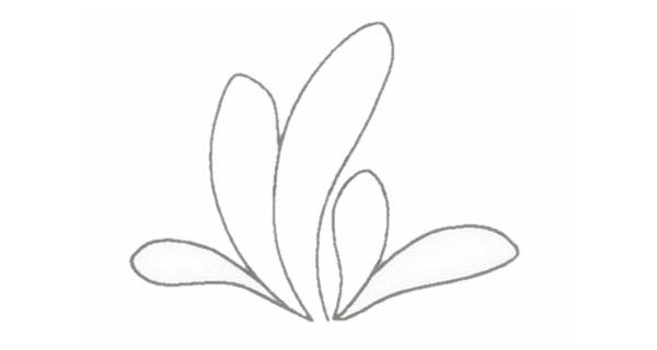 小草简笔画的画法步骤图教程 植物-第3张
