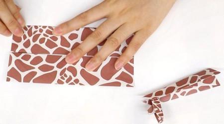 长颈鹿儿童手工折纸步骤图详解 手工折纸-第9张