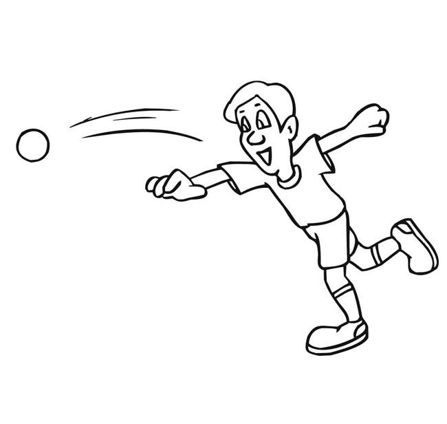 【铅球运动员】掷铅球的人物简笔画线稿 人物-第1张