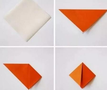 小鱼折纸步骤图解 手工折纸-第2张