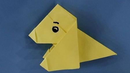 小狗儿童手工折纸步骤图解法 手工折纸-第1张
