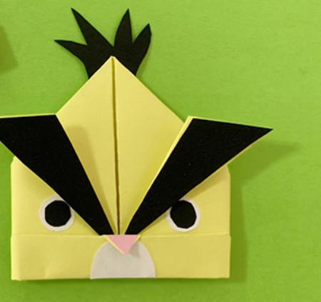 愤怒的小手工折纸步骤图 手工折纸-第1张
