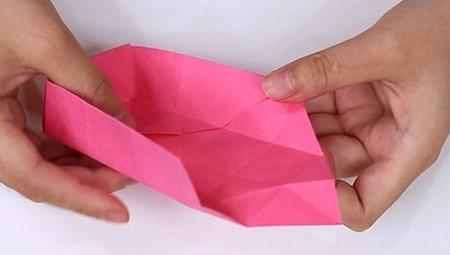 儿童手工折纸心形盒子的折法图解 手工折纸-第8张