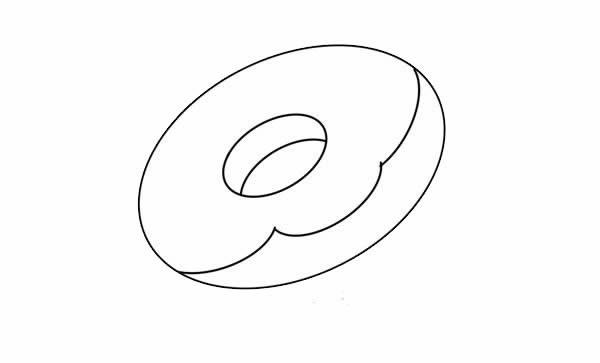 甜甜圈简笔画图片