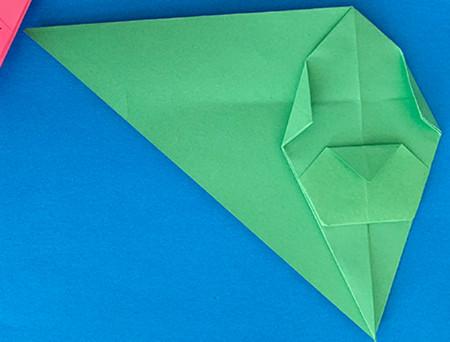 哈巴狗折纸步骤图解 手工折纸-第11张