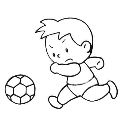 踢足球简笔画画法 中级简笔画教程-第5张