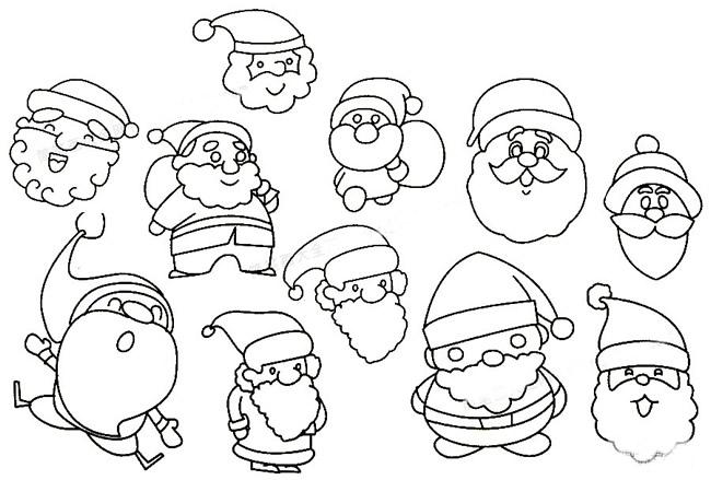 教小朋友画圣诞老人简笔画 中级简笔画教程-第6张