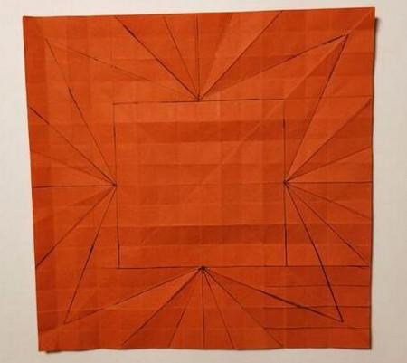 胜利花折纸方法 手工折纸-第3张