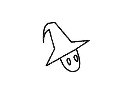 魔法师简笔画的画法步骤 中级简笔画教程-第3张