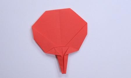 用纸折扇子的方法步骤图片 手工折纸-第1张