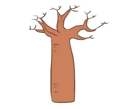 面包树简笔画画法步骤 中级简笔画教程-第8张