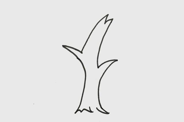 柳树简笔画 初级简笔画教程-第2张