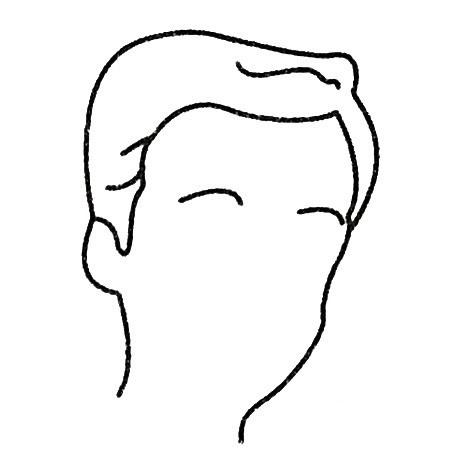 爸爸头像简笔画画法步骤 中级简笔画教程-第4张