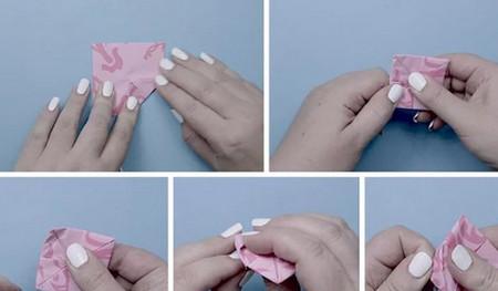 荷花怎么折简单又漂亮教程 手工折纸-第8张