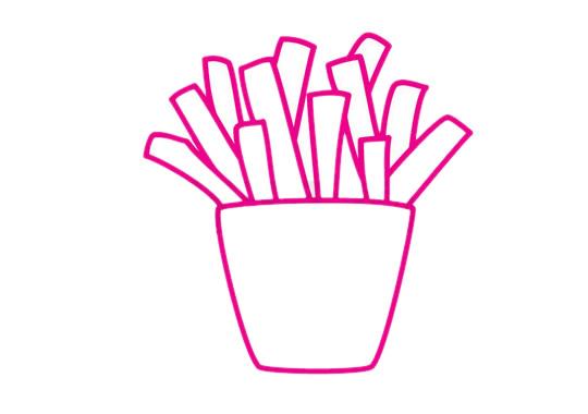 薯条简笔画图片