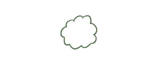 果树简笔画的画法步骤图解教程及图片大全 植物-第2张