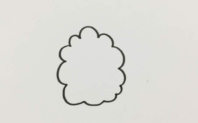 漂亮的大树简笔画画法 中级简笔画教程-第2张