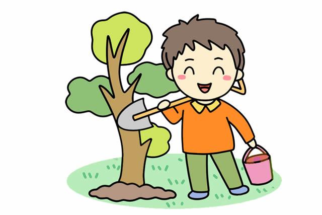 植树节简笔画,小朋友种树简笔画 植物-第2张
