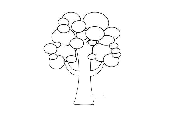 卡通大树简笔画步骤图 初级简笔画教程-第5张
