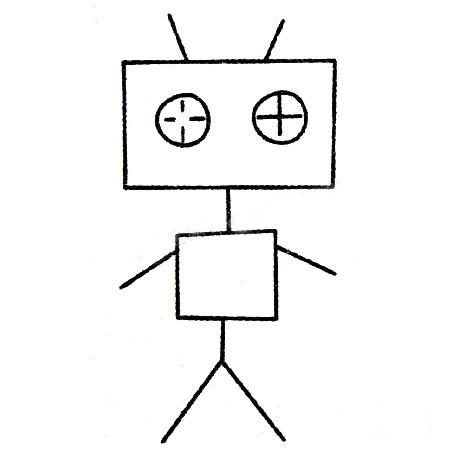教小朋友画简单的机器人简笔画 人物-第5张