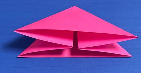 花骨朵折纸的折法图解 手工折纸-第3张
