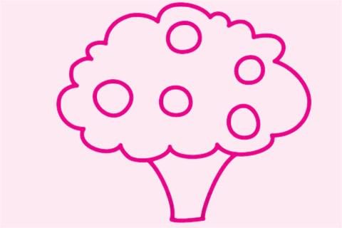 果树简笔画画法步骤图 中级简笔画教程-第1张