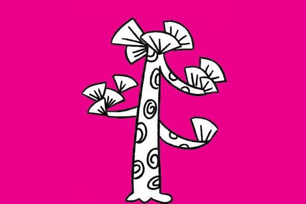 松树画法步骤 松树简笔画步骤教程及图片大全 植物-第7张