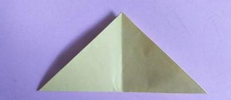 桃心折纸步骤图解 手工折纸-第3张