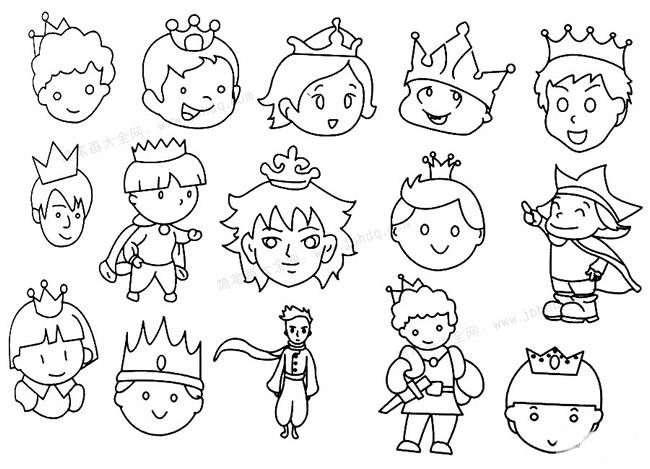 教小朋友画王子简笔画 中级简笔画教程-第1张