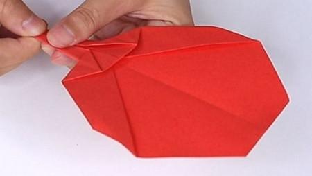 用纸折扇子的方法步骤图片 手工折纸-第12张