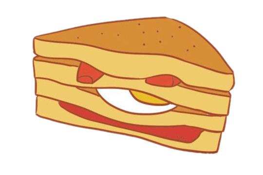 三明治简笔画图片大全作品一
