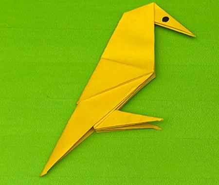 乌鸦手工折纸步骤图解 手工折纸-第13张