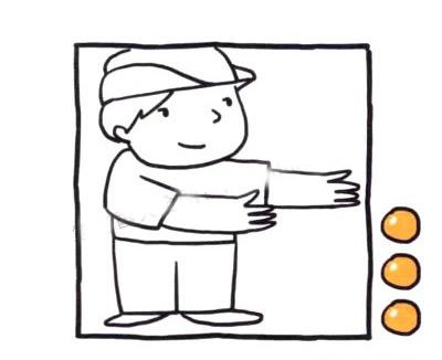 交警叔叔儿童简笔画画法 中级简笔画教程-第4张