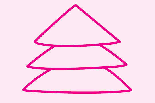超简单的圣诞树简笔画画法 初级简笔画教程-第2张