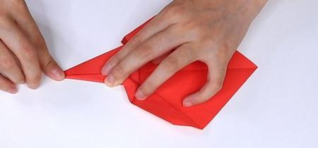 用纸折扇子的方法步骤图片 手工折纸-第9张