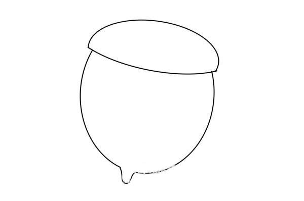 橡果简笔画步骤画法图片
